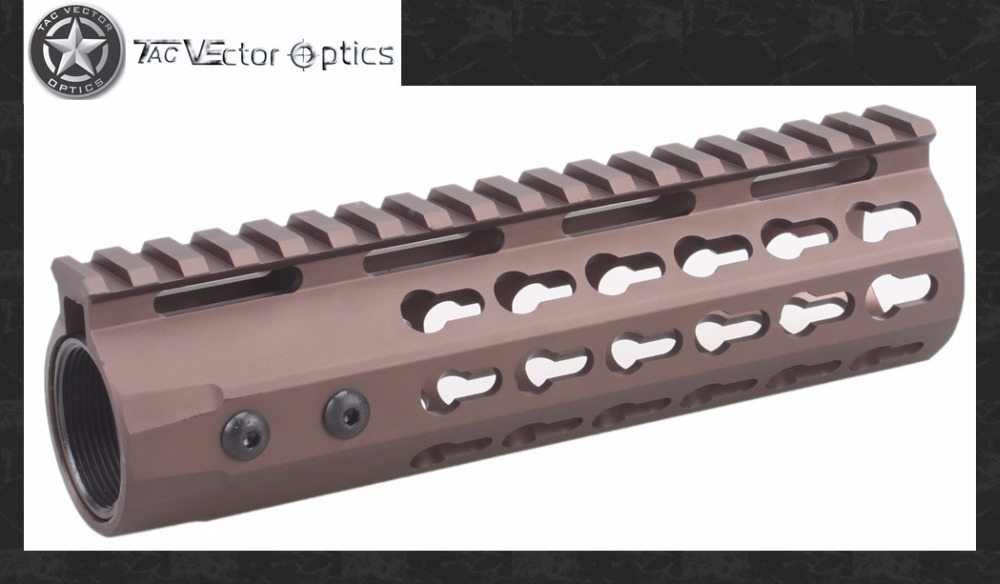 Vector Optics GEN III Carbine 7 inch Free Float .223 5.56 Keymod Handguard Rail Mount w/ Steel Barrel Nut Burnt Bronze FDE Color