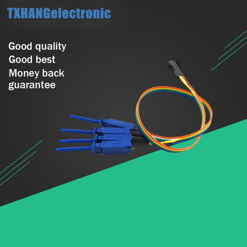 4PCS 1 Pin Test Clamp Wire Hook Test Clip Logic Analyzer Electronic Components