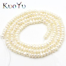 2.5mm Natural White Freshwater Pearl Rondelle Loose Spacer Beads For Jewelry Making Diy Bracelets Necklace 170pcs 15