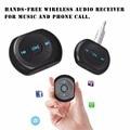 A2DP 3.5mm Jack Car Kit Bluetooth Carro AUX Adaptador de Áudio Receptor de Música Sem Fio Bluetooth 4.0 com Microfone para Celular telefone
