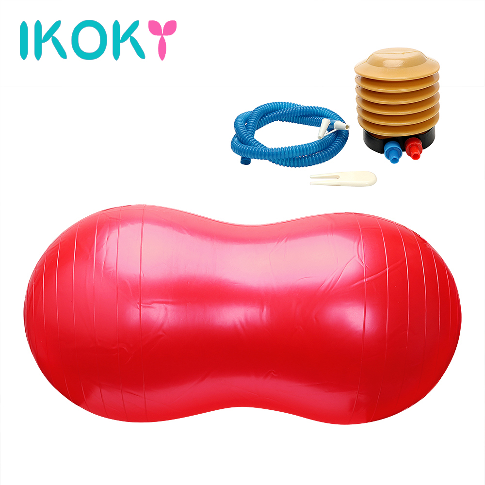 IKOKY Sex Pillow Chair Sofa Sexual Position Cushion Adult Game Sex Toys for Couples Inflatable Rubber Ball Sex Furniture ...