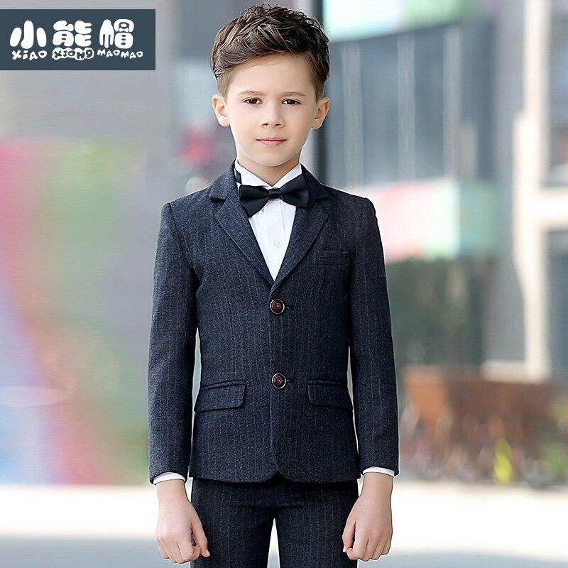 Brand Child Boy Clothing Striped England Style slim fit kids boy