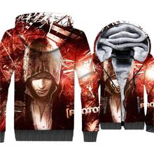 Prototype 3D Hoodies Game Jacket Cool Hoodie Men Punk Sweatshirt 2018 Winter Thick Fleece Coat Alex Mercer Streetwear For Gamer