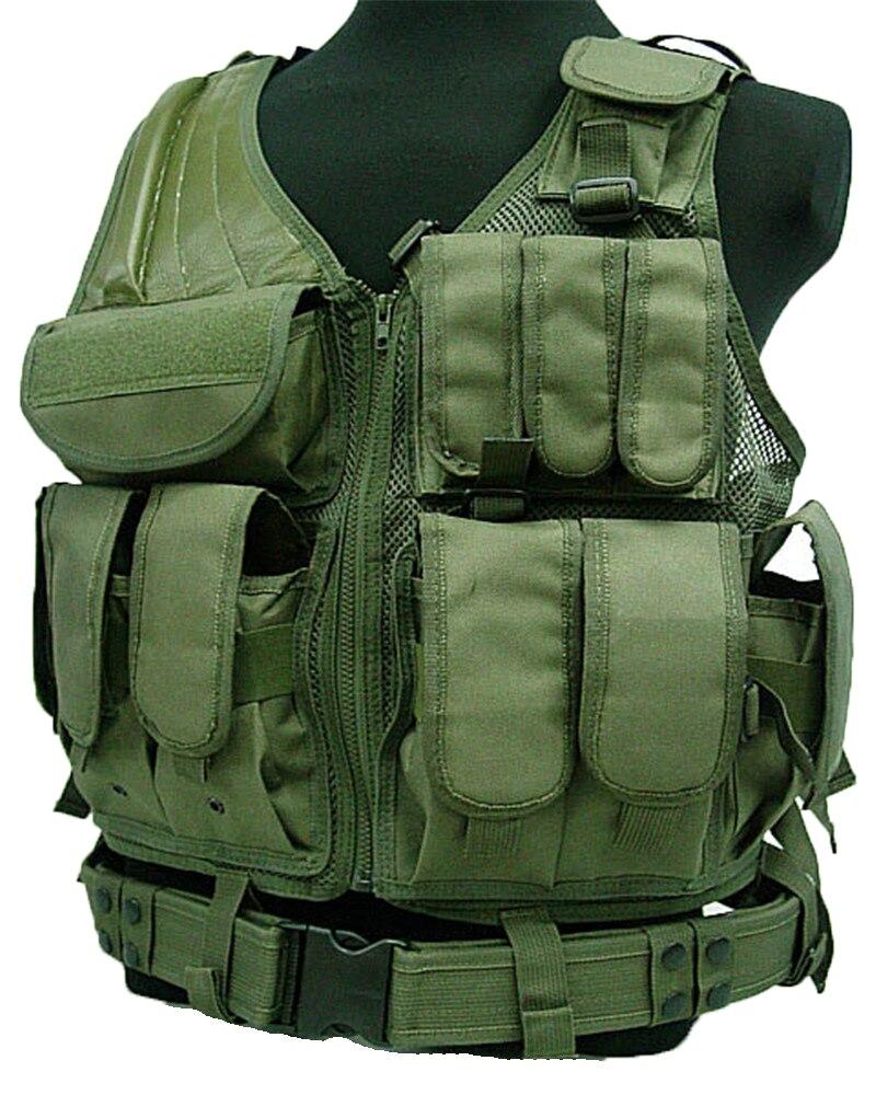 Gilet tactique MOLLE Nylon Combat Paintball Airsoft gilet chasse CS entraînement Camouflage gilet