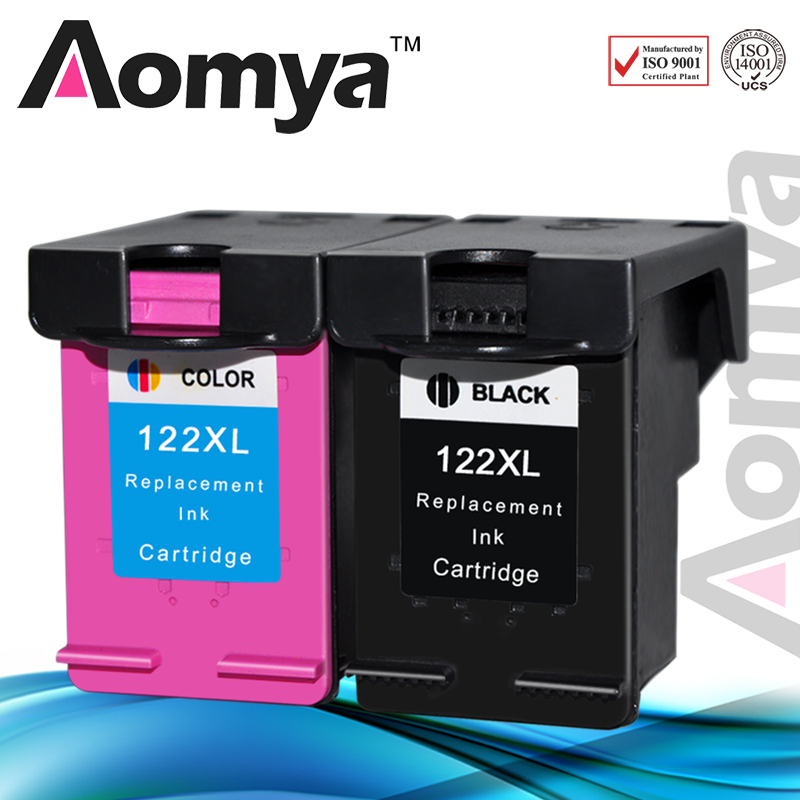 Aomya Ink Cartridge for <font><b>HP122XL</b></font> Replacement for HP122 XL for Deskjet 1000 1050 2000 2050s 3000 3050A 3052A 3054 1010 1510 2540 image