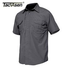 Tacvasen Mannen Shirts Militaire Kleding Quick Dry Tactical Shirt Lichtgewicht Korte Mouw Cargo Werk Shirt Combat Utility Shirts