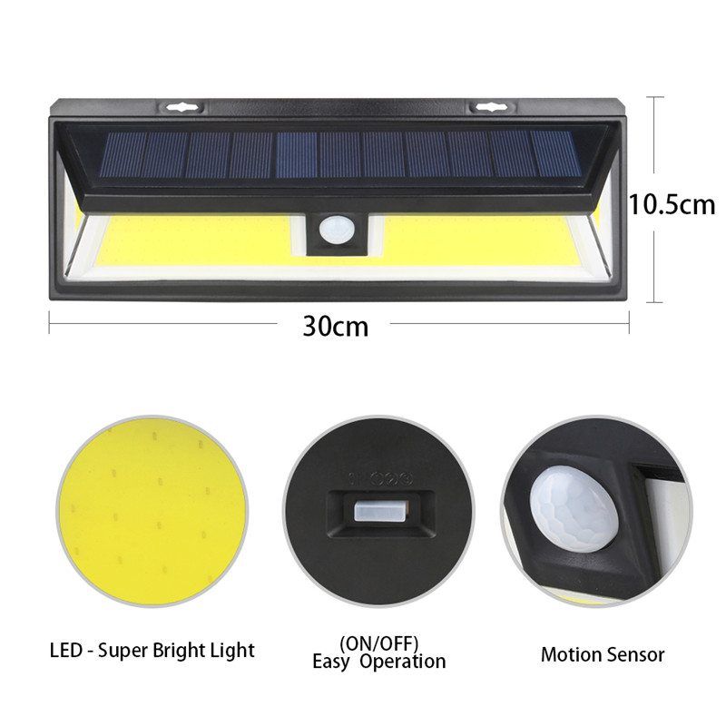 180 chip COB Solar light Waterproof Solar Rechargeable PIR Motion Sensor Night Outdoor Wall lamp for garden decoration