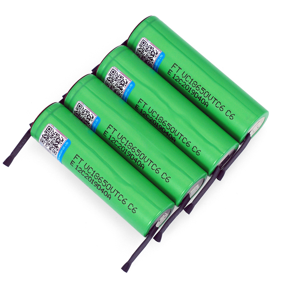 Image 5 - VariCore VTC6 3,7 V 3000 mAh 18650 литий ионная аккумуляторная батарея 30A разрядка VC18650VTC6 батареи + DIY никелевые листы-in Подзаряжаемые батареи from Бытовая электроника