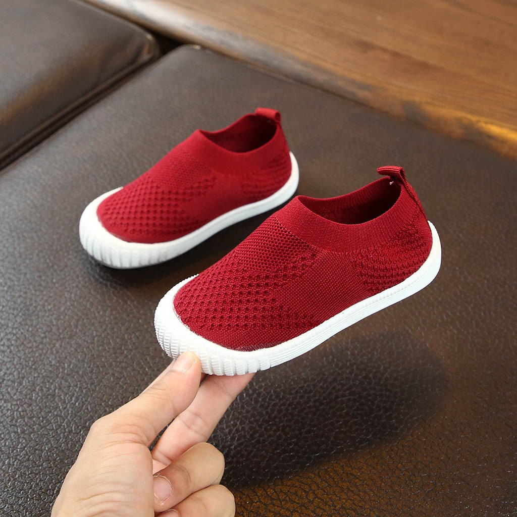 2020 High Quality ChildrenKids Baby Girls Boys Solid Mesh Sport Run Sneakers Breathable Casual Shoes Kids Shoes Soft Sole New