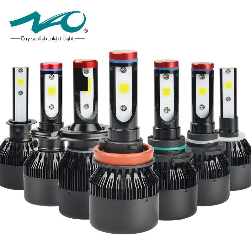 NAO H7 led-scheinwerfer H4 Led-lampe Auto H11 H9 H1 H3 HB4 HB3 9005 9006 H8 H27 9004 H13 881 880 72 Watt 8000LM 12 V licht Weiß 6000 Karat K1