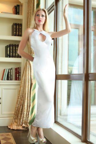 52e486cee9 Banded White Sexy Long Dress Lingerie Gown Sleepwear Undearwear 6 8 10 12