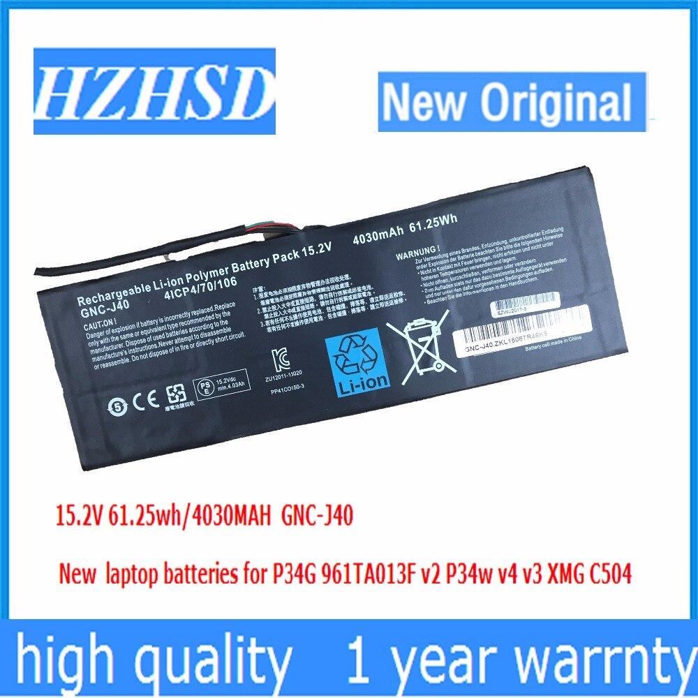 15.2 V 4030 mAh 961TA013F GNC-J40 61.25Wh novo Original Bateria Do Portátil Para GIGABYTE P34W P34K P34F P34G V2 V3 V4 V5 V7