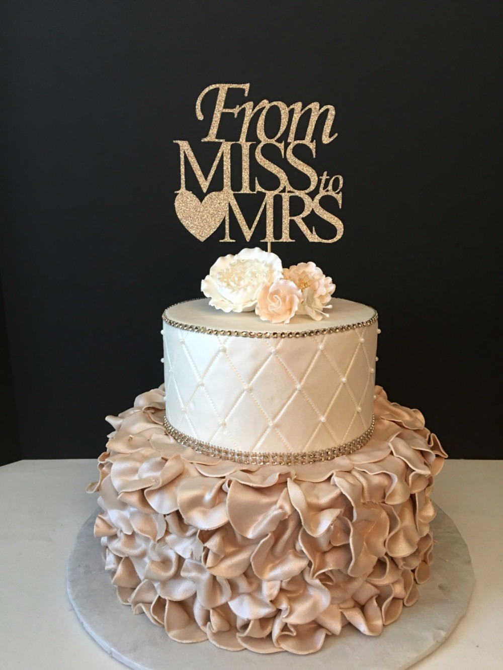 bridal shower cake toppers aliexpress buy from miss to mrs cake topper 2063