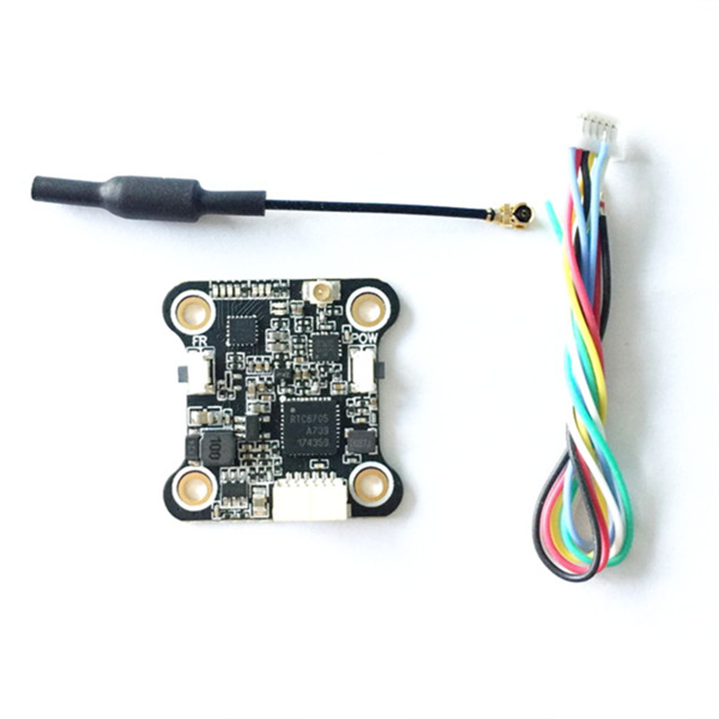 Mini VTX5848 48CH 5.8G 25/100/200mW Switchable FPV RC Drone VTX Video Transmitter Module OSD Control For RC Models Multicopter extra power board for walkera f210 multicopter rc drone