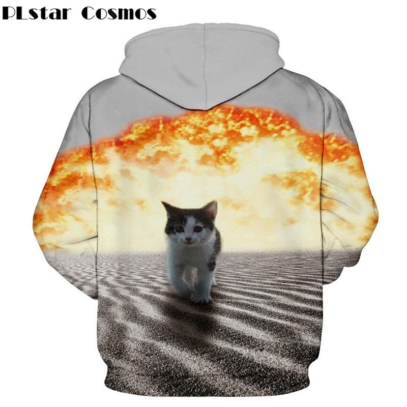 7524c5c2e60e Aliexpress.com   Buy Fashion men women tiger Cat Explosion donuts sweatshirt  print space galaxy hoodies Unisex harajuku 3d jacket Free shipping from ...