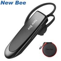 Новый Би Hands-Free Беспроводной Bluetooth наушники гарнитура Bluetooth наушники вкладыши с микрофоном наушников чехол для телефона pc