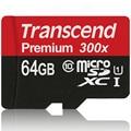 Original Transcend 16GB 32GB 64GB 128GB MicroSD MicroSDHC MicroSDXC Micro SD SDXC Card 45MB/S 300X class 10 UHS-1 TF Memory Card