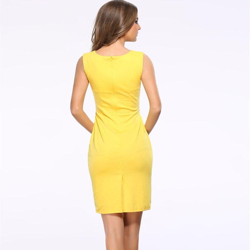Frauen Sommerkleid 2018 Neue Mode Aushöhlen Sleeveless Bleistift - Damenbekleidung - Foto 2