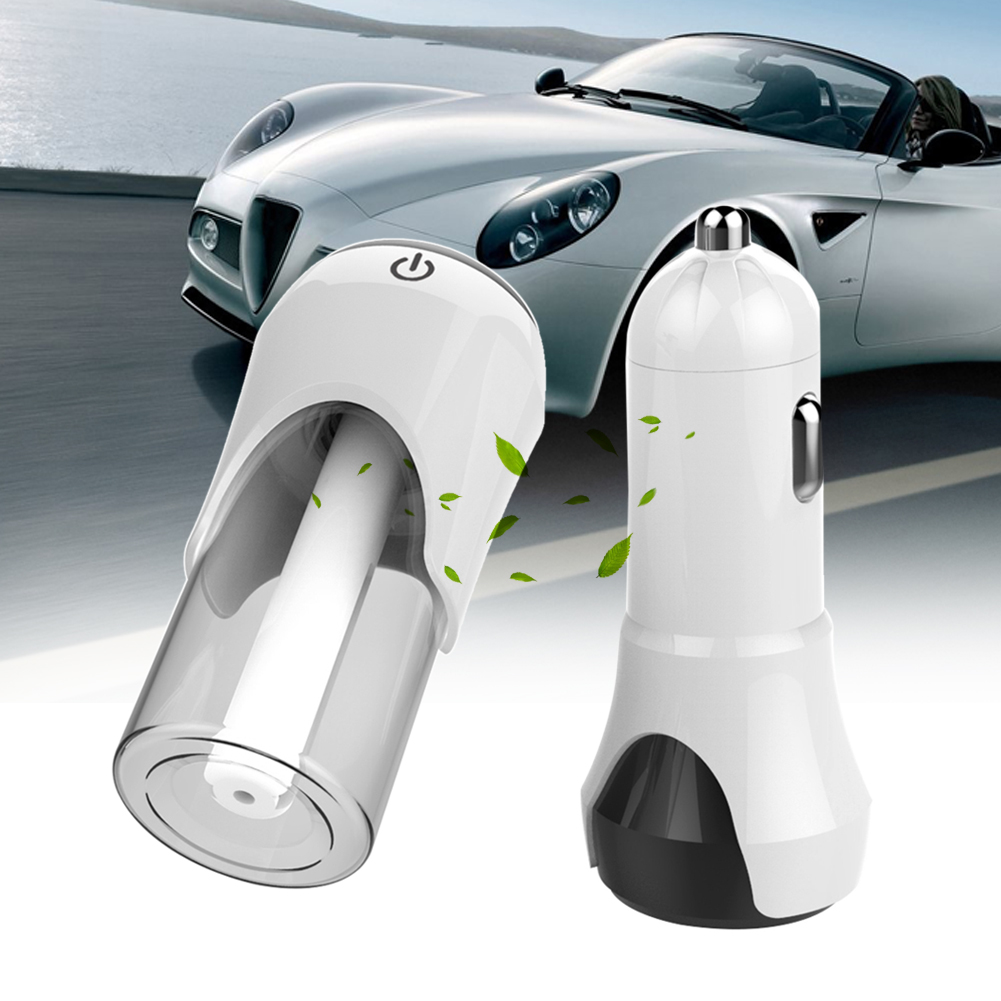 universal vehicle car humidifier air purifier with dual usb car charger auto oxygen bar suit. Black Bedroom Furniture Sets. Home Design Ideas
