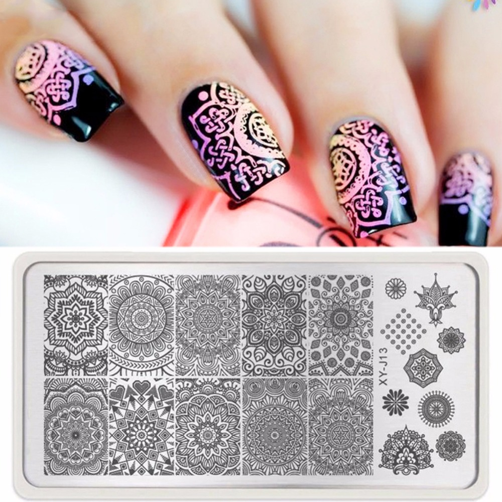 1pc Mandala Nail Art Stamp Template Plate India Mandala