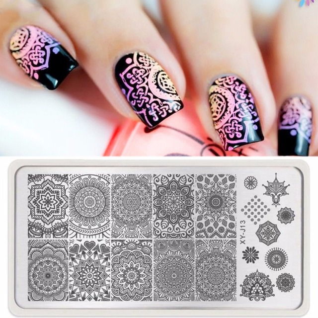1pc Mandala Nail Art Stamp Template Plate India Mandala Style Nail ...