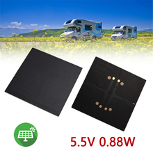 Gizcam Frosted Glass Plate Fast Charger Solar Panel Solar Cell 5.5V 160mA 0.88W Solar Charger Pane Battery Cells 8*8cm