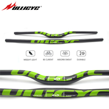 Ullicyc guidon de bicyclette en fibre de carbone VTT pour vtt 3k, vert brillant, 31.8x600/640/660/680/700/720mm, CB186