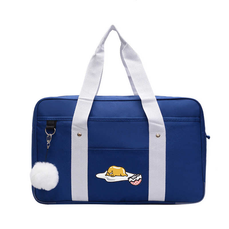 Japanese School Anime gudetama jk uniform Cos commuter Handbag student shoulder portable canvas hand bag canvas Messenger Bags