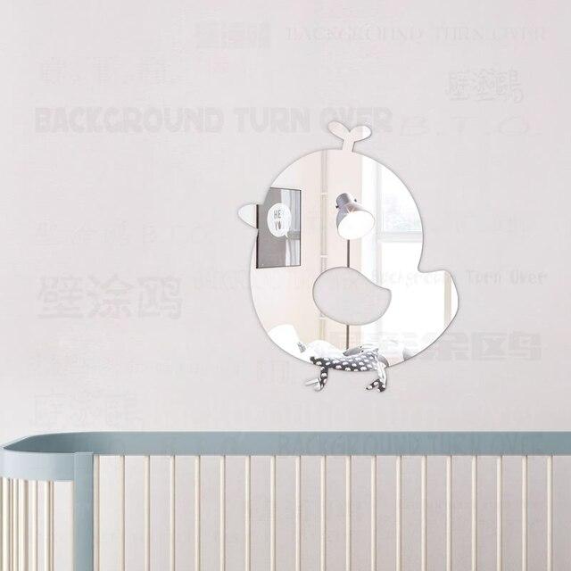 Belle poussin 3D décoratif miroir Stickers muraux pour enfants ...