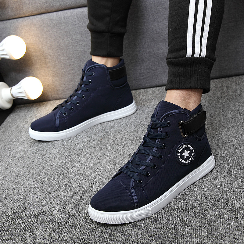 ZYYZYM Män Casual Shoes 2018 Vårhöst Hot Sale Lace Up High Style - Herrskor - Foto 6