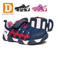 8fdcd4e6 Nuevo 2017 marca Niños Niñas deportes Zapatos niños resistencia suela de  goma niños Zapatos para caminar primavera moda Otoño ni.