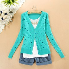 BEST PRICE 2016 Fashion Women Coat Small Love Heart Jackets Cardigan Knitted Coat Woman For Winter Autumn Outerwear Slim jackets