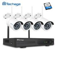 Techage 4CH 1080P Wireless NVR CCTV System P2P 4pcs WIFI IP Camera Outdoor 2 0MP Home