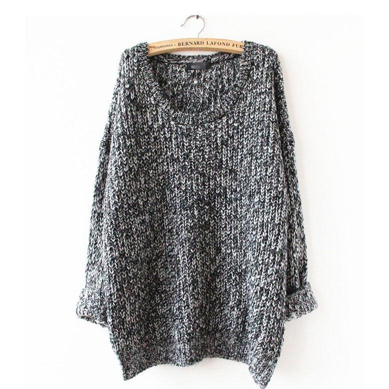 La primavera y El Otoño Sección Larga De Gran Tamaño Floja Del Suéter de Cobertu