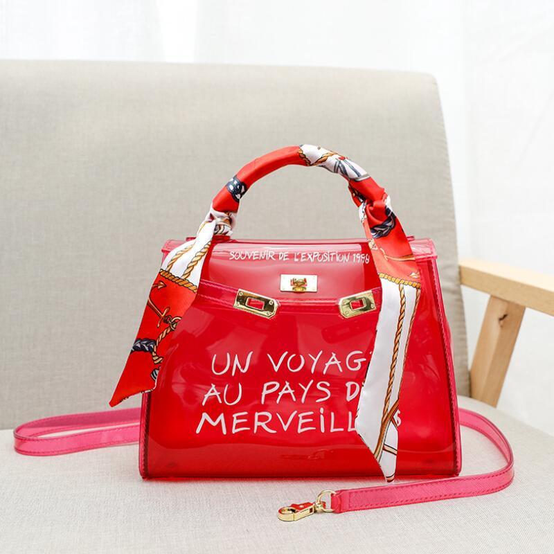 PVC Handbags Jelly-Bags Transparent Bag Clear Main Femme Luxury Designer Fashion Women