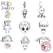 FC Jewelry Fit Original pandora Charms Bracelet 925 Sterling Silver Winter Cute Mickey Number Beads For Making Pendant Berloque