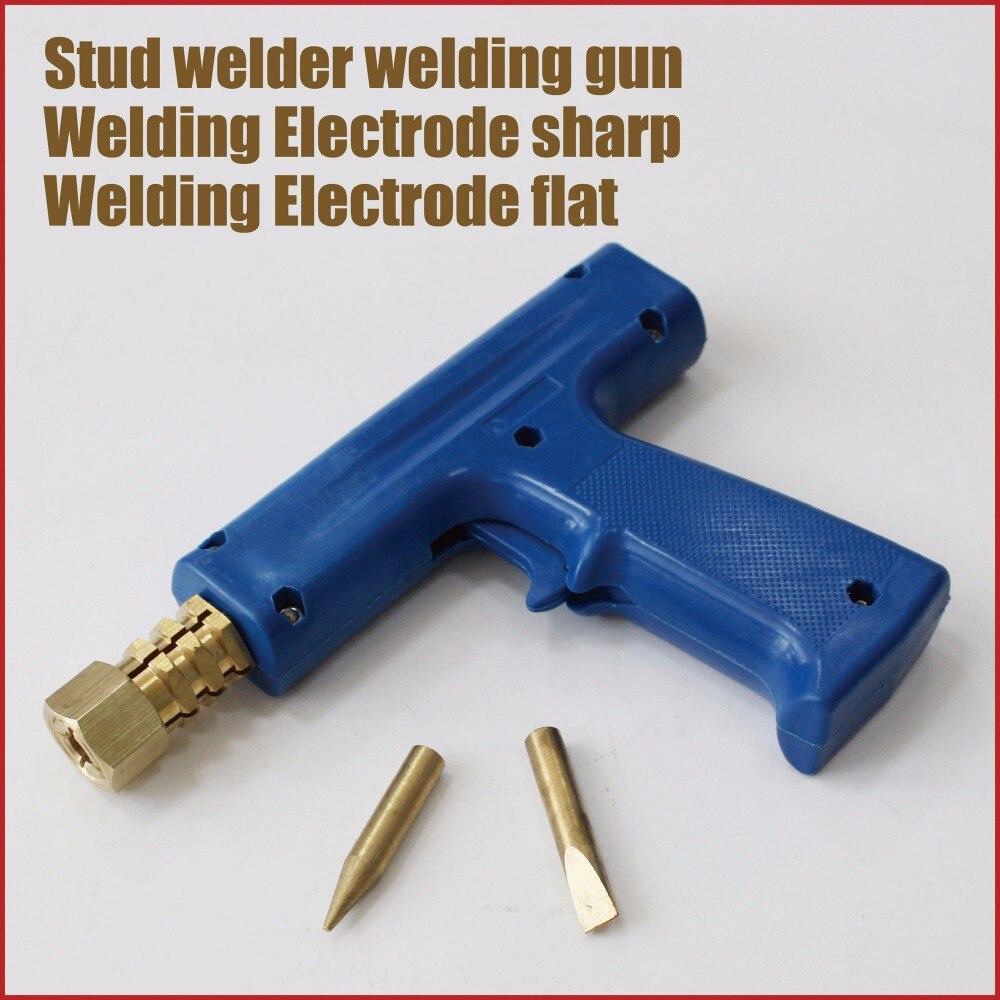 Système d'enlèvement de dent goujon soudeur pistolet réparation de dent outils de soudage par points électrodes de soudage système de réparation de panneau de cuivre carrosserie de voiture