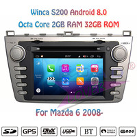 Winca S200 Android 8.0 Car DVD Player Multimedia Autoradio For Mazda 6 2008 2009 2010 Stereo GPS Navigation Magnitol Double Din