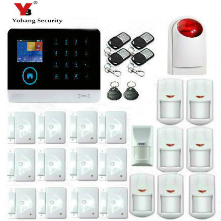YobangSecurity Wireless wifi GSM GPRS RFID Home Security Alarm System Smart Home Automation System Pet Friendly Immune Detector yobangsecurity wireless wifi gsm gprs rfid burglar home security alarm system outdoor ip camera pet friendly immune detector