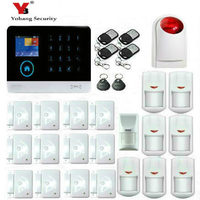 Wireless Wifi GSM GPRS RFID Home Security Alarm System Smart Home Automation System Pet Friendly Immune