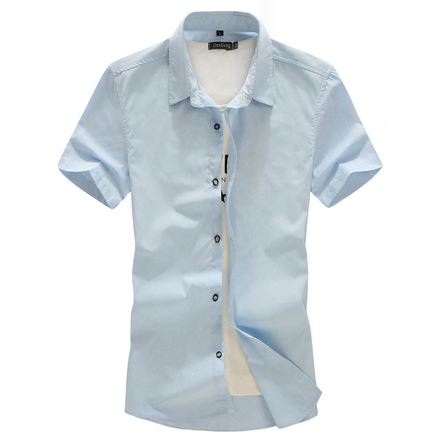 Plus Tamaño Grande: 8XL 7XL 6XL 5XL-L LOS PECHO MAX 145 CM Mens camisetas de La Moda 2016 Primavera Verano de manga corta casual hombre Sólido camisa
