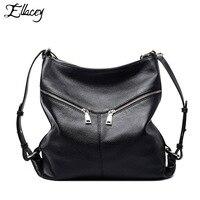 2016 Ellacey Luxury Handbags Genuine Leather Hobo Bag Elegant Soft Casual Tote Top Handle Shoulder Bag