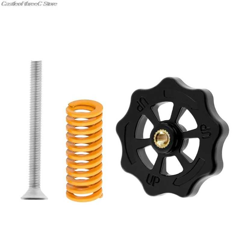 3D Printer Accessories Upgraded Big Hand Twist Auto Leveling Nut+Spring+Screw For Mini Ender 3 CR-10 CR-10S