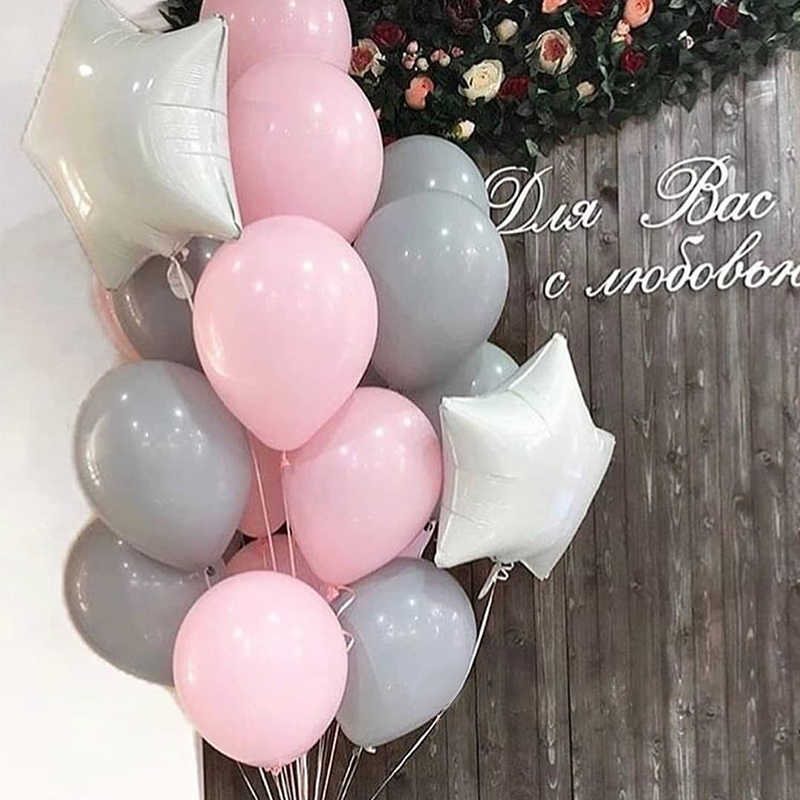 20pcs NEW 10 inch Matte Gray Latex Balloon Wedding Decoration Birthday Party Supplies Grey Pink Coral Latex Balloons Helium Kids