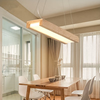 Japanese Modern Simple LED Chandeliers Solid Wood Lamps Creative Personality Dining Room Living Room Chandeliers Free Shipping