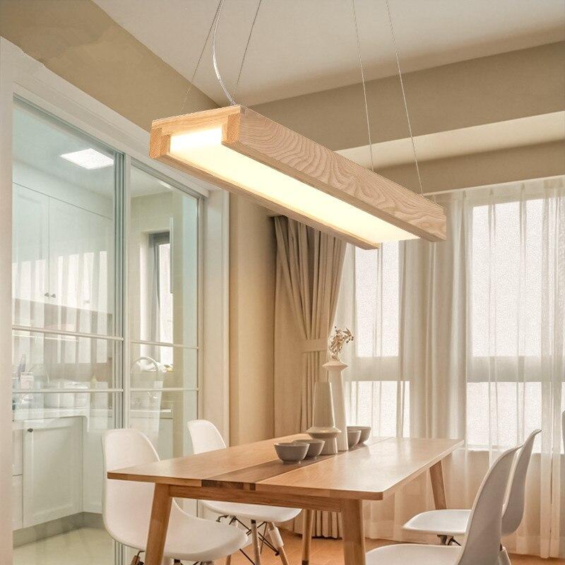 113 25 22 De Reduction Japonais Moderne Simple Lustres En Led Lampes En Bois Massif Personnalite Creative Salle A Manger Salon Lustres Livraison