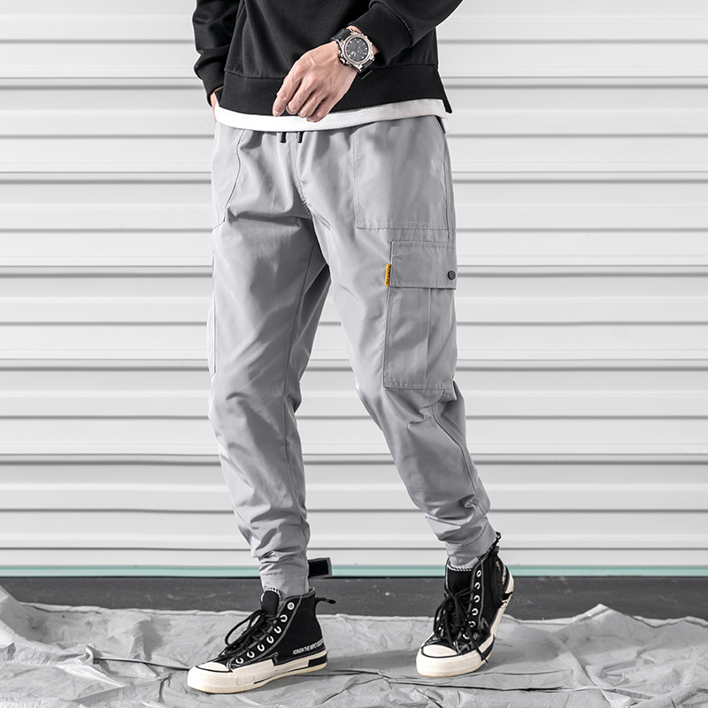M 3XL 2019 Spring Track Pants Men Sweatpants Mens Joggers Pants Cargo Camo Tactical Harem muti pocket men 39 s Jogger Pants in Cargo Pants from Men 39 s Clothing