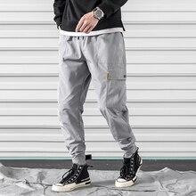 цена на M-3XL 2019 Spring Track Pants Men Sweatpants Mens Joggers Pants Cargo Camo Tactical Harem muti-pocket men's Jogger Pants