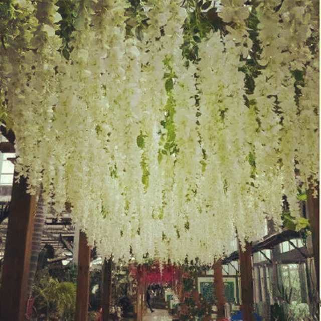 200pcs artificial silk wisteria flowers for diy wedding arch square 200pcs artificial silk wisteria flowers for diy wedding arch square rattan simulation flowers home wall hanging decoration in artificial dried flowers mightylinksfo Choice Image