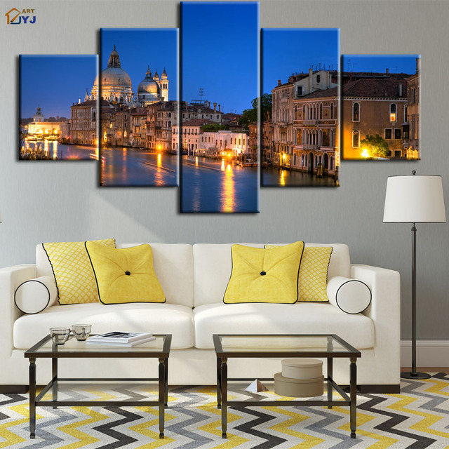 Great Venice Grand Canal Picture Spray Painting Wall Art For Living Room Home  Decor HD Print Oil